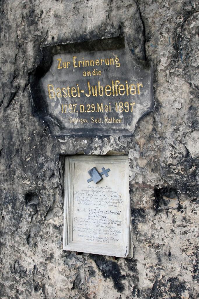 Gedenktafel Bastei